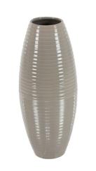 Gray Barrel Ceramic Vase