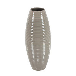 Gray Barrel Ceramic Vase