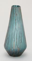 Teal Teardrop Glass Vase, 18 in.