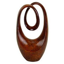 Mahogany Abstract Infinity Sculpture