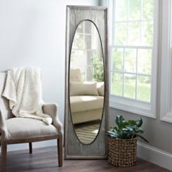 Galvanized Oval Cheval Mirror