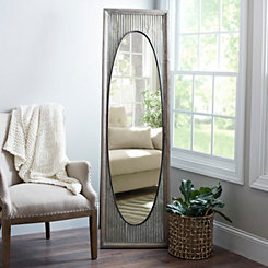 Galvanized Oval Cheval Mirror