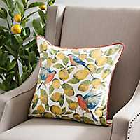 Lemons and Birds Pillow