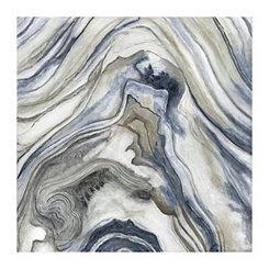 Indigo Stone Pattern I Canvas Art Print