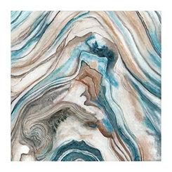 Teal Stone Pattern I Canvas Art Print