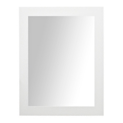 White Woven Framed Wall Mirror, 37.5x47.5 in.