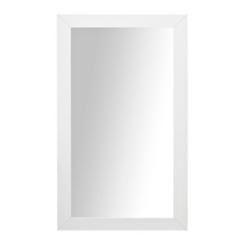White Woven Framed Mirror, 37.5x67.5 in.