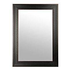 Distressed Black Bead Wall Mirror, 24x36