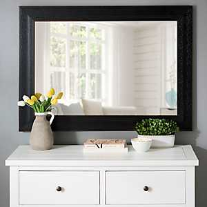 Distressed Black Bead Wall Mirror, 31.4x43.4 in.