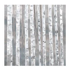 Woodland Gray Canvas Art Print