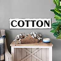 Black and White Cotton Tin Plaque