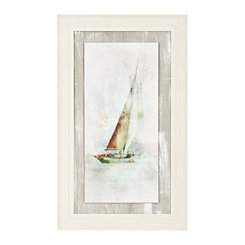 Sailboat I Textured Float Framed Art Print