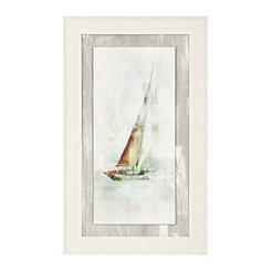 Sailboat I Textured Float Framed Art Print
