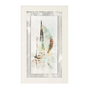 Sailboat II Textured Float Framed Art Print