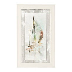 Sailboat II Textured Float Framed Art Print