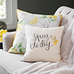 Squeeze the Day Lemon Pillow