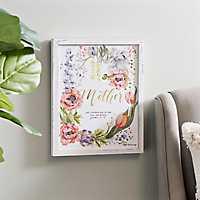 Mother Rustic Floral Framed Art Print