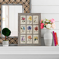 Fruits of the Spirit Floral Window Framed Print