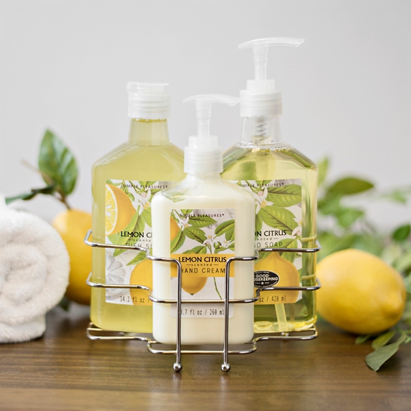 Lemon Citrus 3 Pc. Hand Care Caddy Set