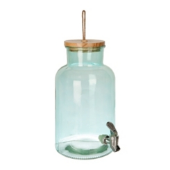 Ferne Green Glass Beverage Dispenser
