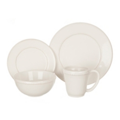 White Bianca Dash 16-pc. Dinnerware Set
