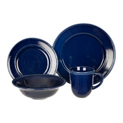 Navy Bianca Dash 16-pc. Dinnerware Set