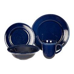 Navy Bianca Dash 16-pc. Dinnerware Set