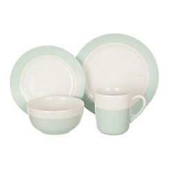 Two-Tone Blue and White 16-pc. Dinnerware Set