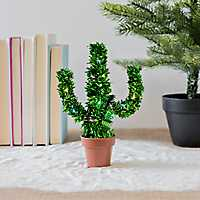Deck Your Desk Pre-Lit Holiday Cactus