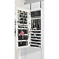 White LED Over-the-Door Jewelry Armoire Mirror
