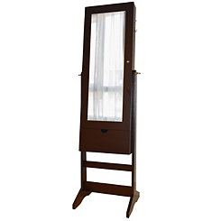 Brown Cheval Swivel Armoire Mirror