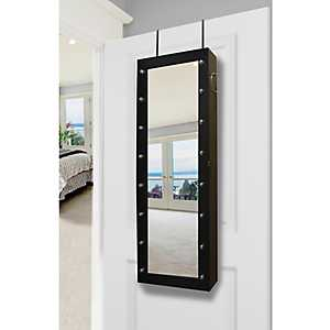 Black Marquee Jewelry Armoire Mirror