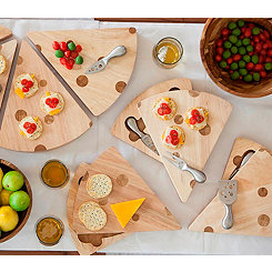 Swiss Cheese Board with Serving Set