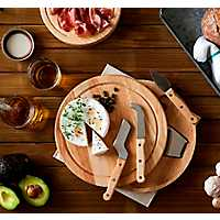 Round Wood Swivel Cheese Board