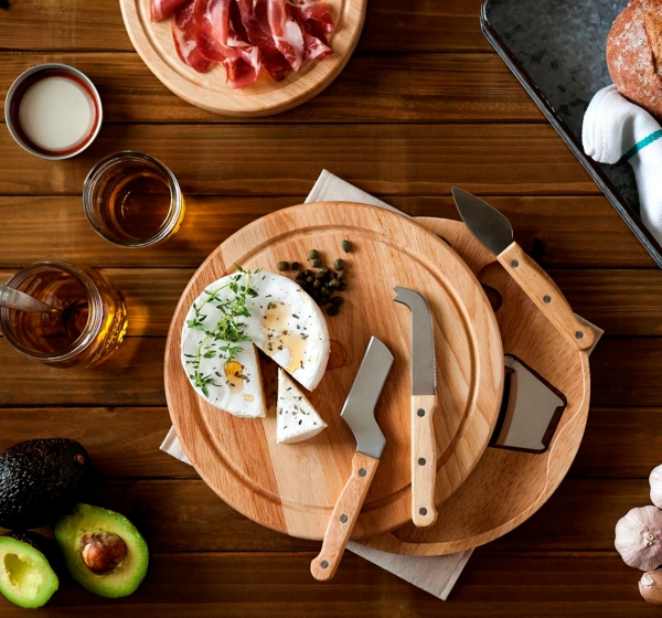 Round Wood Swivel Cheese Board
