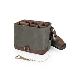 Khaki Beer Caddy Cooler with Bottle Opener