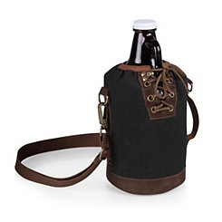 Growler with Black Canvas Insulated Tote