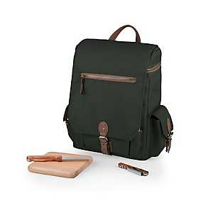 Khaki Insulated Convertible Backpack Tote