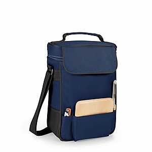 Navy Wine & Cheese Service Insulated Tote