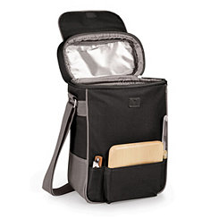 Black Wine & Cheese Service Insulated Tote