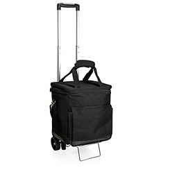 Black Rolling Cooler with Trolley