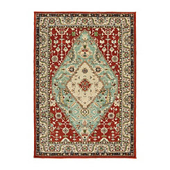 Traditional Red Dalton Area Rug, 5x8