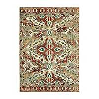 Tribal Red Dalton Area Rug, 5x8