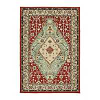 Traditional Red Dalton Area Rug, 7x10