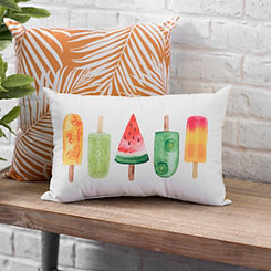 Fruit Popsicle Outdoor Pillow