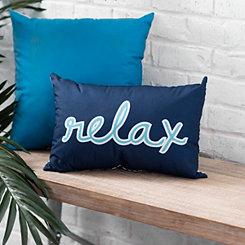 Navy Relax Outdoor Pillow