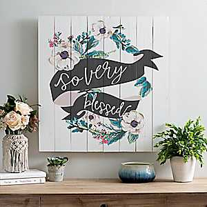 So Very Blessed Wood Pallet Wall Plaque