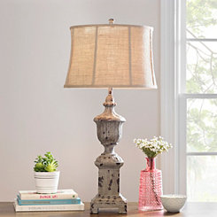 Hannah French Resin Urn Table Lamp