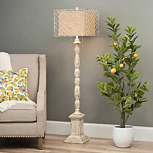 Holcomb White Floor Lamp