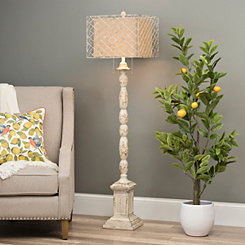 Holcomb White Floor Lamp
